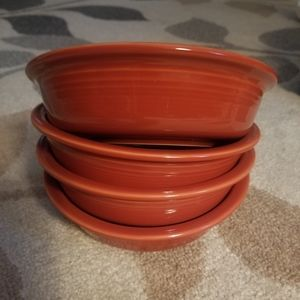 NWT Fiesta ware bowls, Set of 4; orange